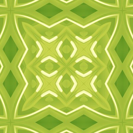 Green abstract texture. Background illustration with strong lines. Textile print pattern. Cute seamless tile. Home decor fabric design sample. Tileable motif for pillows, cushions, tablecloths, drapes Stock Photo
