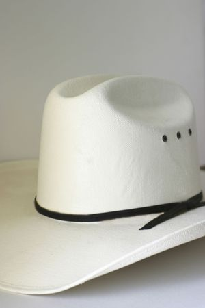 White western hat on off white