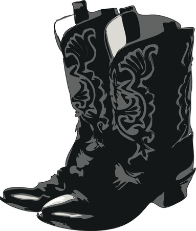 work boots: Cowboy Boots Illustration