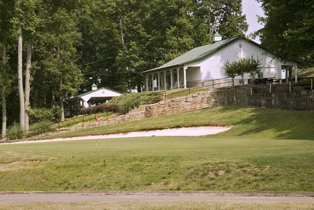 View of the club house from the 18th hole Stock Photo - 467330