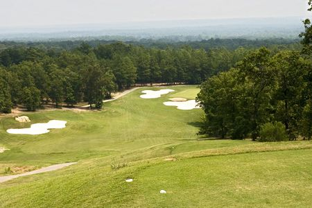 Beautiful view from the tee box to the fairway below
