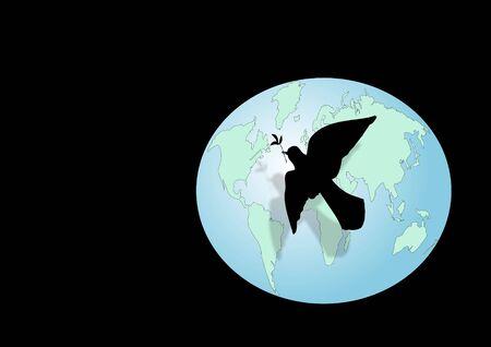 Los s�mbolos que representan la paz mundial.  Foto de archivo - 1747122