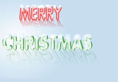 Cheerful Christmas message isolated over slight gradient background