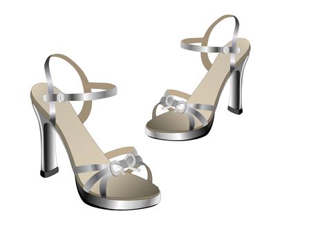Heeled ladies sandles for evening wear
