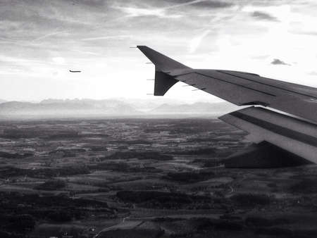 Planes coming in to land at Munich airport.