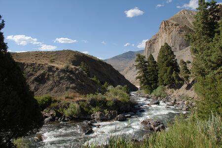 Winter Creek Runs Through Yellowstone National Park Stock Photo - 17641530