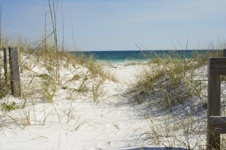 Beach Path near Pensacola Beach, Florida. Stock Photo