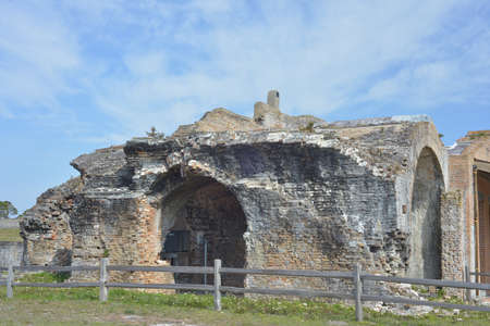 union beach: Fort Pickens was completed in 1834 and is part of the Gulf Islands National seashore in Florida.