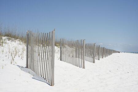 pensacola beach: Beach fence near Pensacola Beach, Florida.