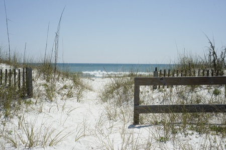 Beach Path near Pensacola Beach, Florida. photo