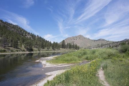helena: Beaver creek flows into the Missouri river near Helena, Montana.