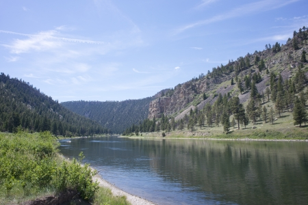 waterway: The Missouri river canyon near Helena, Montana. Stock Photo