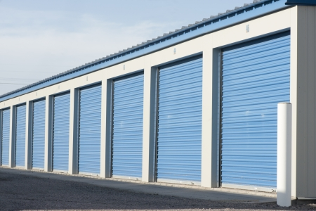 Storage units in a self storage facility  Stock Photo - 21895651