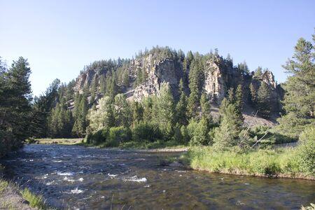 rock creek: Rock creek near Philipsburg, Montana.