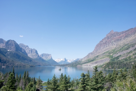 Lake St. Mary in Glacier National Park, Montana.