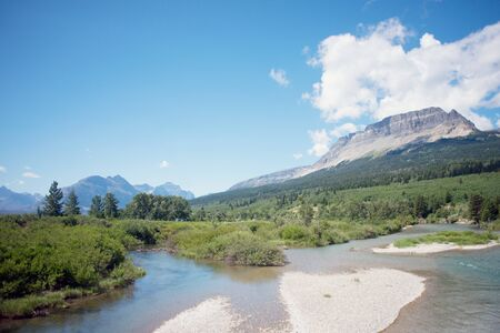 flathead: North Fork of the Flathead River in Glacier National Park, Montana.