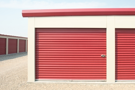 warehouse building: Storage unit at a storage facility.