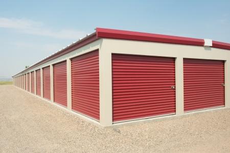 self storage: Storage unit at a storage facility.