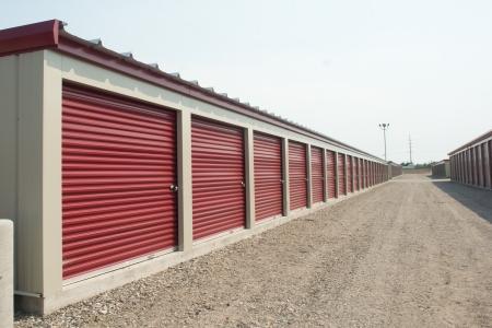 self storage: Storage units at a storage facility. Stock Photo