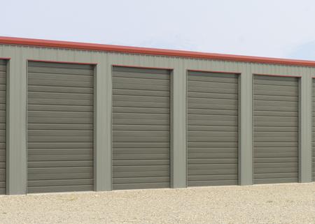 storage unit: Storage units at a storage facility. Stock Photo