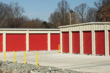storage units: Storage units at a storage facility. Stock Photo
