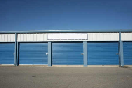 Storage units at a storage facility  Stock Photo