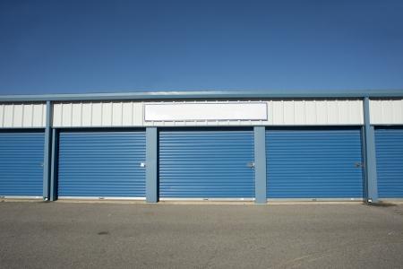 units: Storage units at a storage facility  Stock Photo
