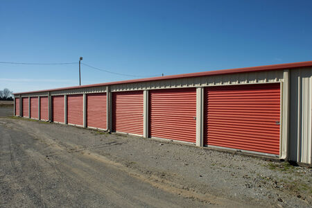 storage units: Storage units at a storage facility  Editorial