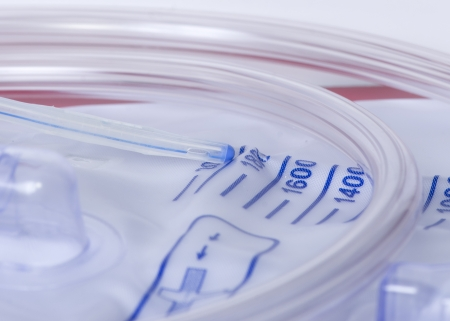 Close up photo of a urinary catheter with urine bag. Stock Photo - 24918918