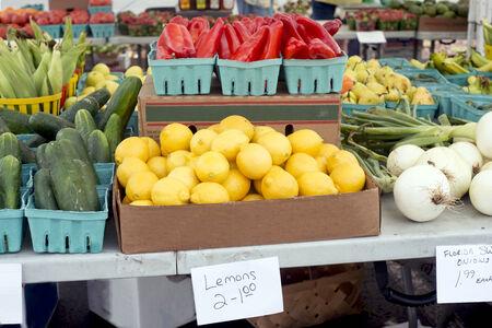 Lemons for sale at a farmers market in Florida. Reklamní fotografie