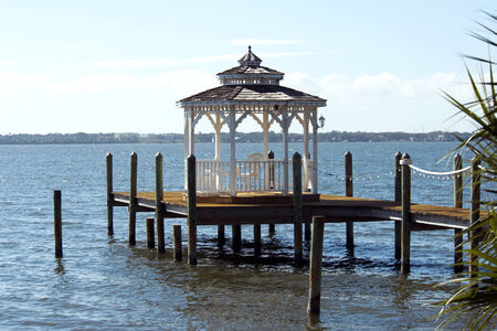 View of the Indian River bay from Merritt Island, Florida  photo