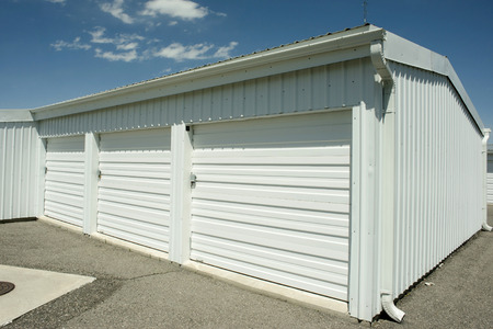 storage unit: Storage units at a local storage rental company. Stock Photo