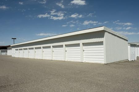 Storage units at a local storage rental company. Zdjęcie Seryjne