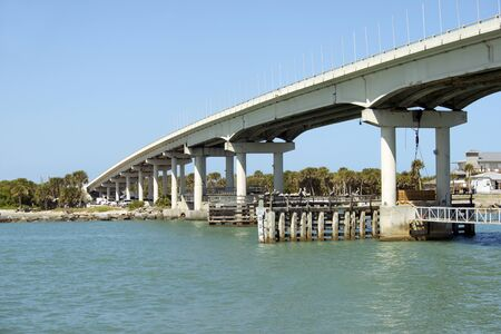 Sebastian inlet bridge near Melbourne, Florida. Stock Photo