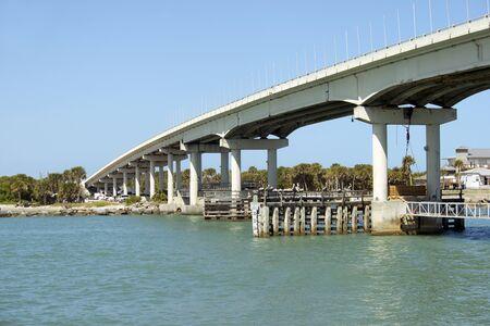 florida beach: Sebastian inlet bridge near Melbourne, Florida. Stock Photo