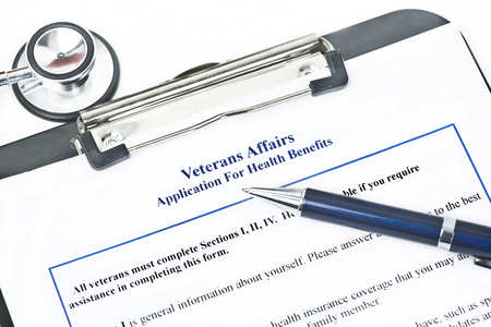fictitious: Hypothetical veteran application for health benefits.  Document is totally fictitious and the VA is a government entity.