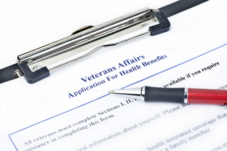 hypothetical: Hypothetical veteran application for health benefits.  Document is totally fictitious and the VA is a government entity.