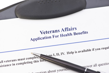 Hypothetical veteran application for health benefits.  Document is totally fictitious and the VA is a government entity.