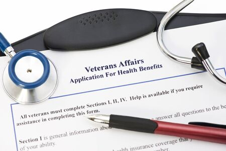 Application for Veterans Benefits. All documents created by photographer.