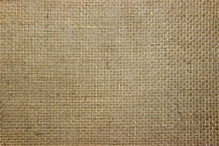 Loose fabric on the underside of the carpet. The texture of the linen base of the carpet. A network of twisted threads in the material.