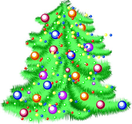 vector christmas tree isolated on white background photo