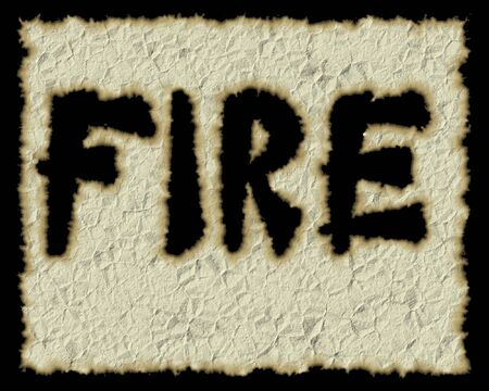 dungy: old paper with fire word dodged