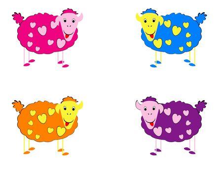 Vector illustration of sheeps Stock Illustration - 4382115