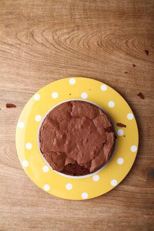 gateau chocolat: tour de g�teau au chocolat Banque d'images