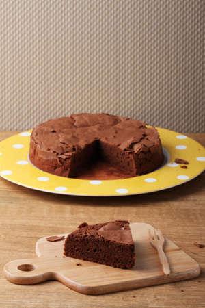 gateau chocolat: piece of chocolate cake