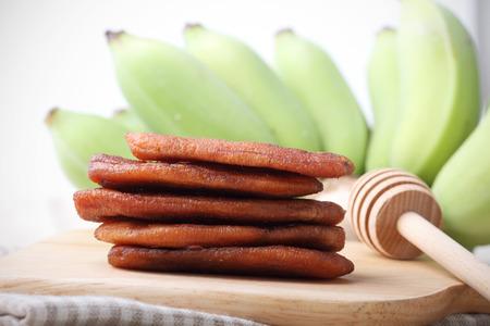 healthy snack: Honey Baked Bananas, healthy snack Stock Photo