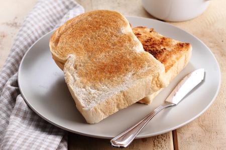 breakfast bread toast on plate