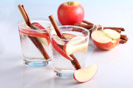 apple cinnamon water Stock Photo