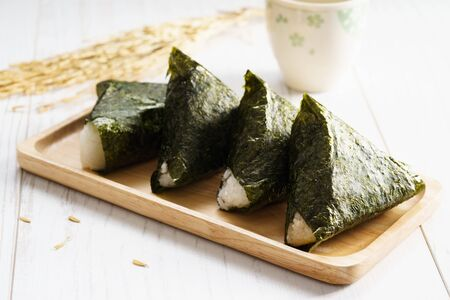Onigiri, rice ball wrapped with seaweed
