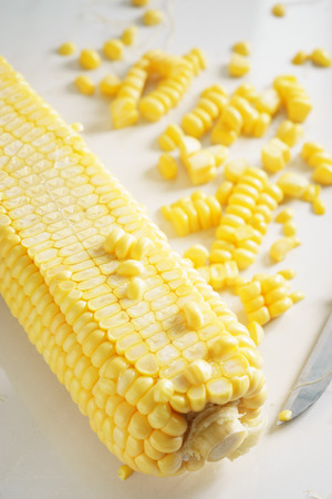 fresh sweetcorn, sliced sweetcorn for cooking